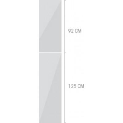 40x233 cm, 2 luckor
