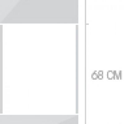 60x211 cm, 1 lucka + 2  lådor