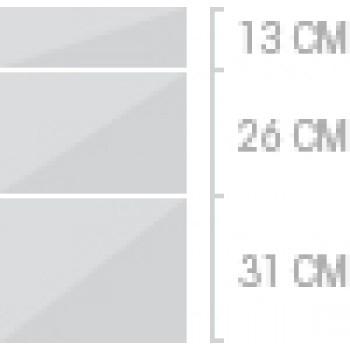 40x70 cm, 3 lådor