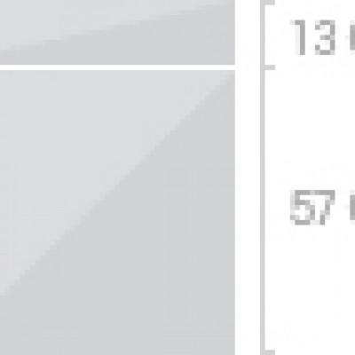 60x70 cm, 1 låda + 1  lucka
