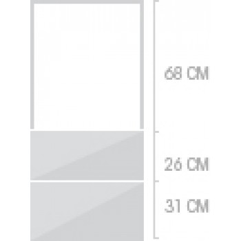 60x141 cm, 2 lådor
