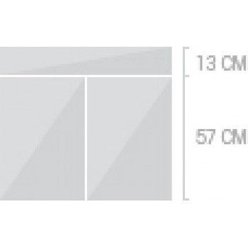 80x70 cm, 1 låda + 2  luckor