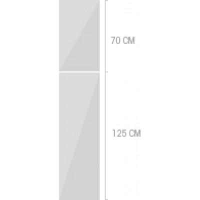 40x211 cm, 1 lucka + 1  låda
