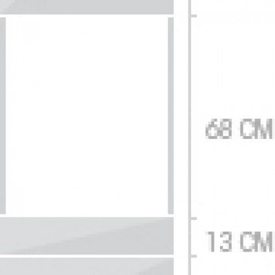 60x211 cm, 1 lucka + 3  lådor