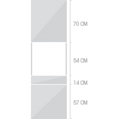 60x211 cm, 2 luckor + 1  låda