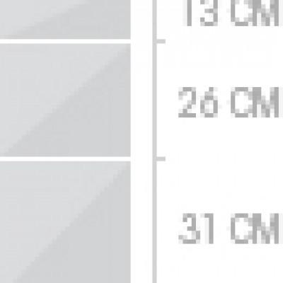 30x70 cm, 3 lådor