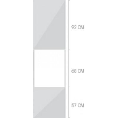 60x233 cm, 2 luckor