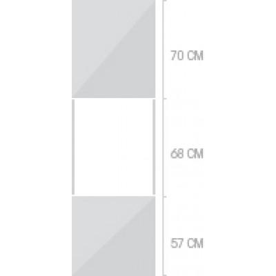 60x211 cm, 2 luckor