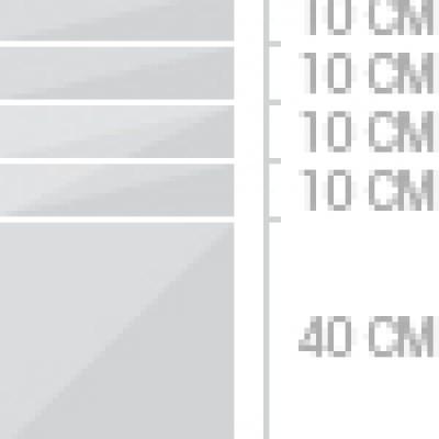 40x80 cm  lådor