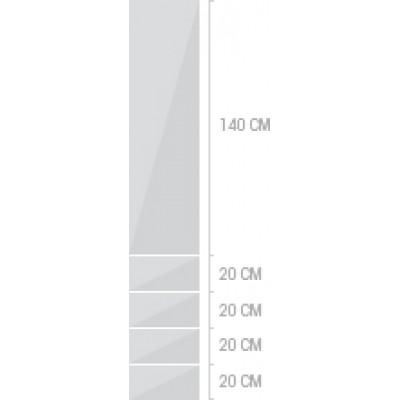 40x220 cm,  lådor