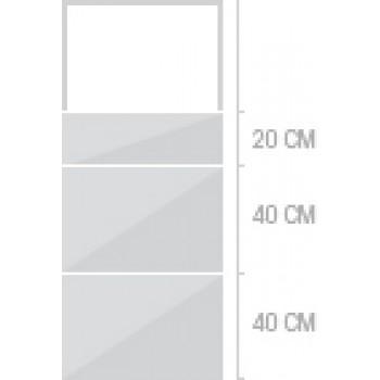 60x140 cm,  lådor